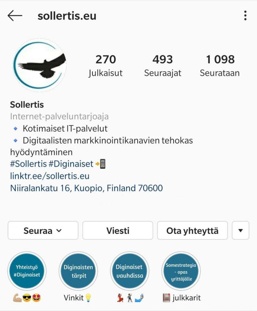 Esimerkki Instagram biosta_kuvituskuva